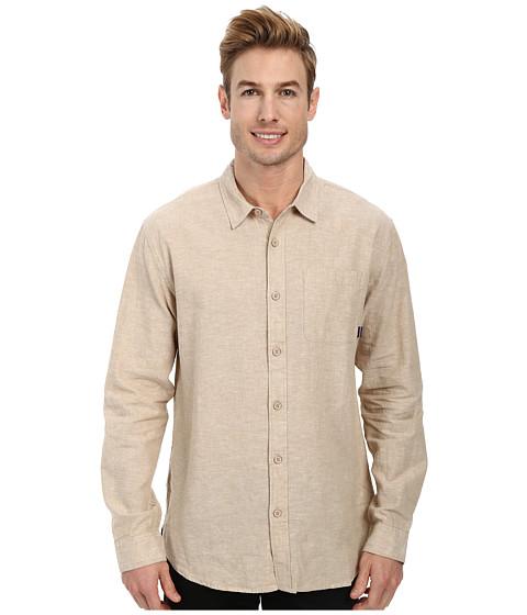 Jack O'Neill - Inlet L/S Woven Shirt (Khaki) Men's Long Sleeve Button Up