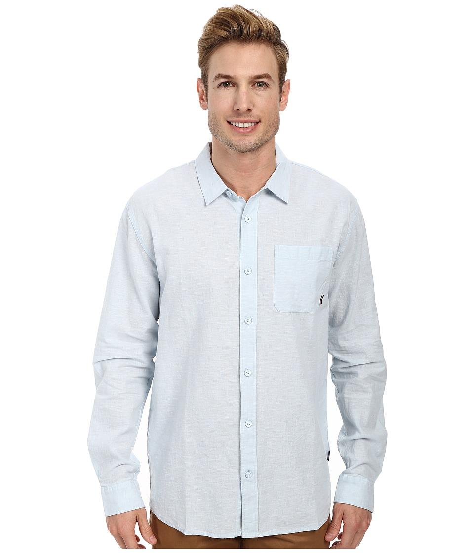 Jack O'Neill - Inlet L/S Woven Shirt (Light Blue) Men's Long Sleeve Button Up