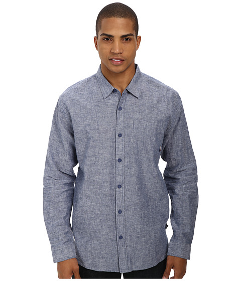 Jack O'Neill - Inlet L/S Woven Shirt (Navy) Men's Long Sleeve Button Up