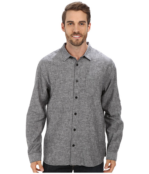 Jack O'Neill - Inlet L/S Woven Shirt (Black) Men's Long Sleeve Button Up