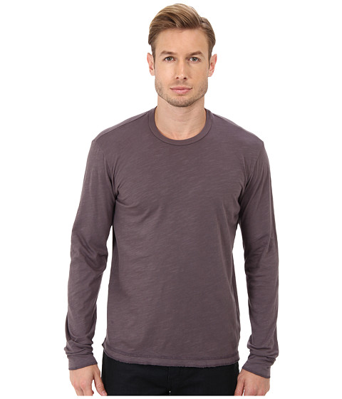 Velvet by Graham & Spencer - L/S Slub Jersey Crew Neck T-Shirt (Fig) Men's T Shirt