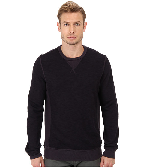 Velvet by Graham & Spencer - L/S Slub French Terry Sweatshirt (Yankee) Men's Long Sleeve Pullover