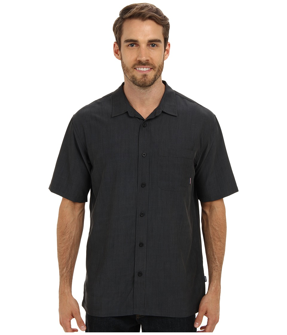 Jack O'Neill - Ixtapa Woven Shirt (Black) Men's Short Sleeve Button Up