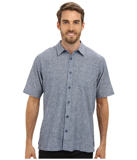 Jack O'Neill - Ixtapa Woven Shirt (Pale Blue) Men's Short Sleeve Button Up