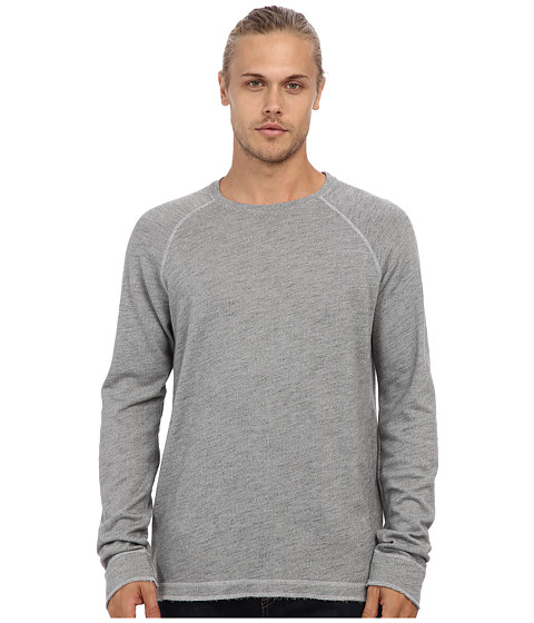 Velvet by Graham & Spencer - Connor L/S Cozy Fleece Crew Sweatshirt (Heather) Men's Long Sleeve Pullover