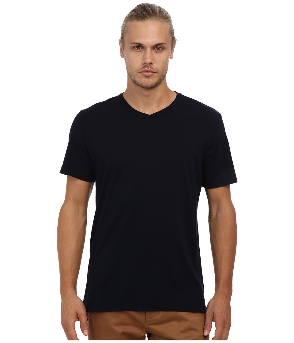 Velvet by Graham & Spencer - Whisper Jersey V-Neck T-Shirt (Midnight) Men's Short Sleeve Pullover