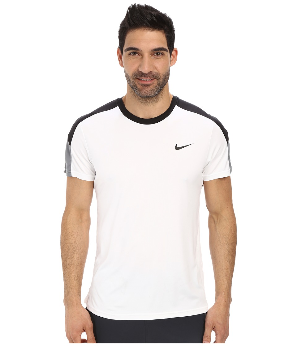 Nike - Court Tennis Shirt (White/Black/Cool Grey/Black) Men's T Shirt