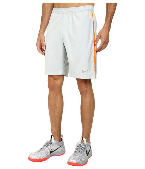 Nike - Court 9 Short (Grey Mist/Bright Mandarin/Dove Grey) Men