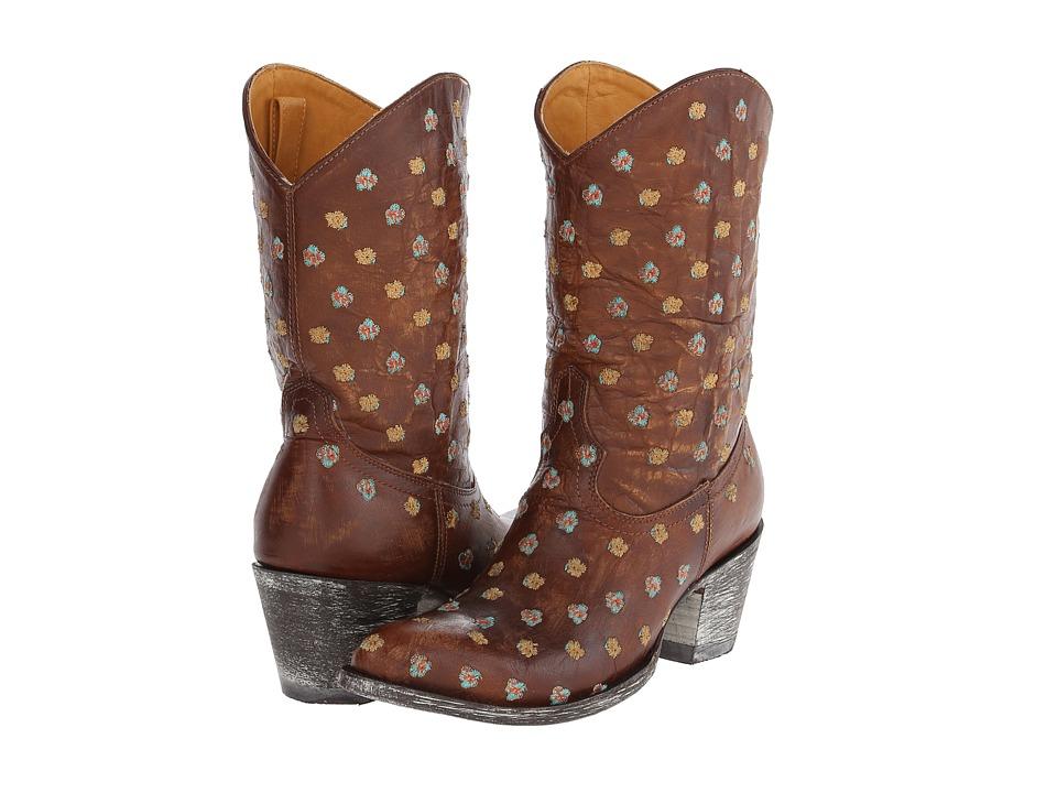 Old Gringo - Flores Muchas (Brass) Cowboy Boots