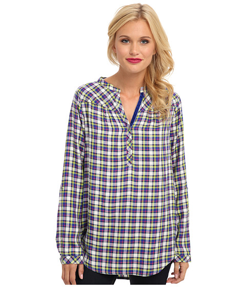 C&C California - High-Low Tunic w/ Shirring Detail (Mirage) Women's Long Sleeve Pullover