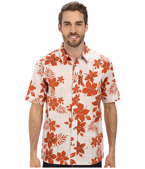 Jack O'Neill - Del Mar Woven Shirt (Orange) Men's Short Sleeve Button Up
