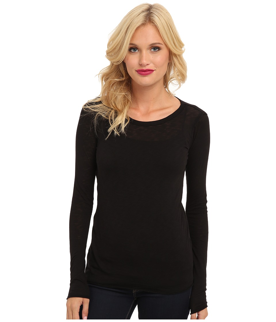 C&C California - L/S Layering Tee (Black) Women's Long Sleeve Pullover