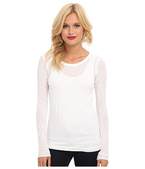 C&C California - L/S Layering Tee (White) Women's Long Sleeve Pullover