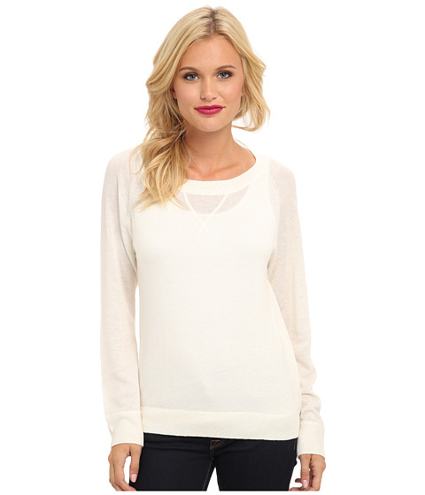 C&C California - Cashmere Blend Pullover (White) Women's Sweater