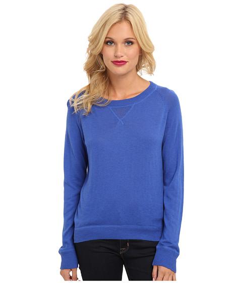 C&C California - Cashmere Blend Pullover (Dazzling Blue) Women