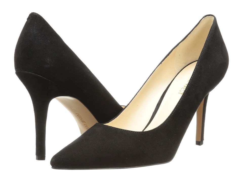 Nine West - Jackpot (Black Suede) High Heels