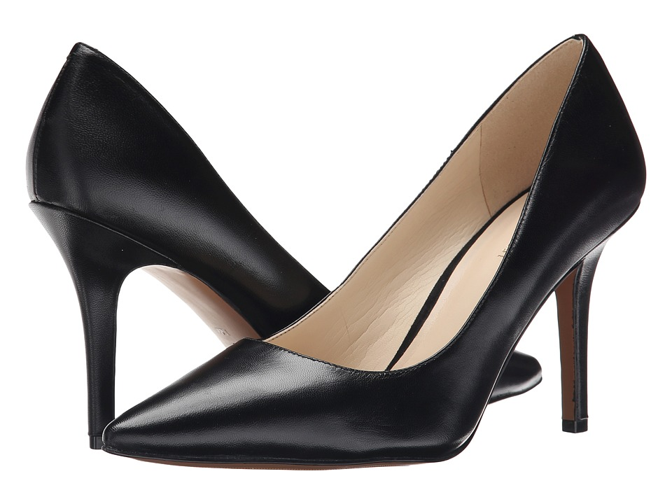 Nine West - Jackpot (Black Leather) High Heels