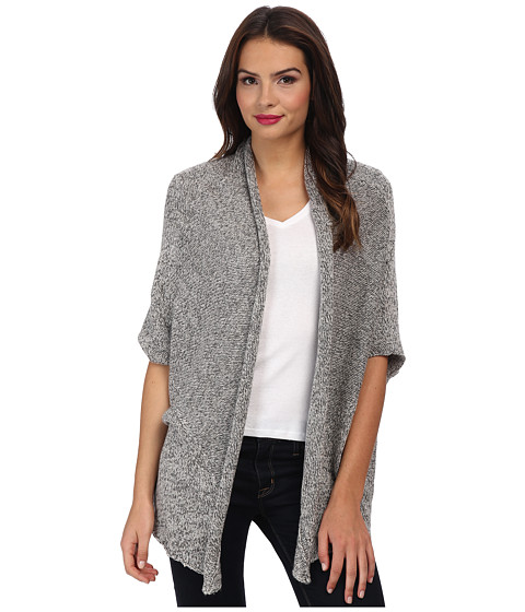 C&C California - Tweed Drape Cardigan (Heather Grey) Women