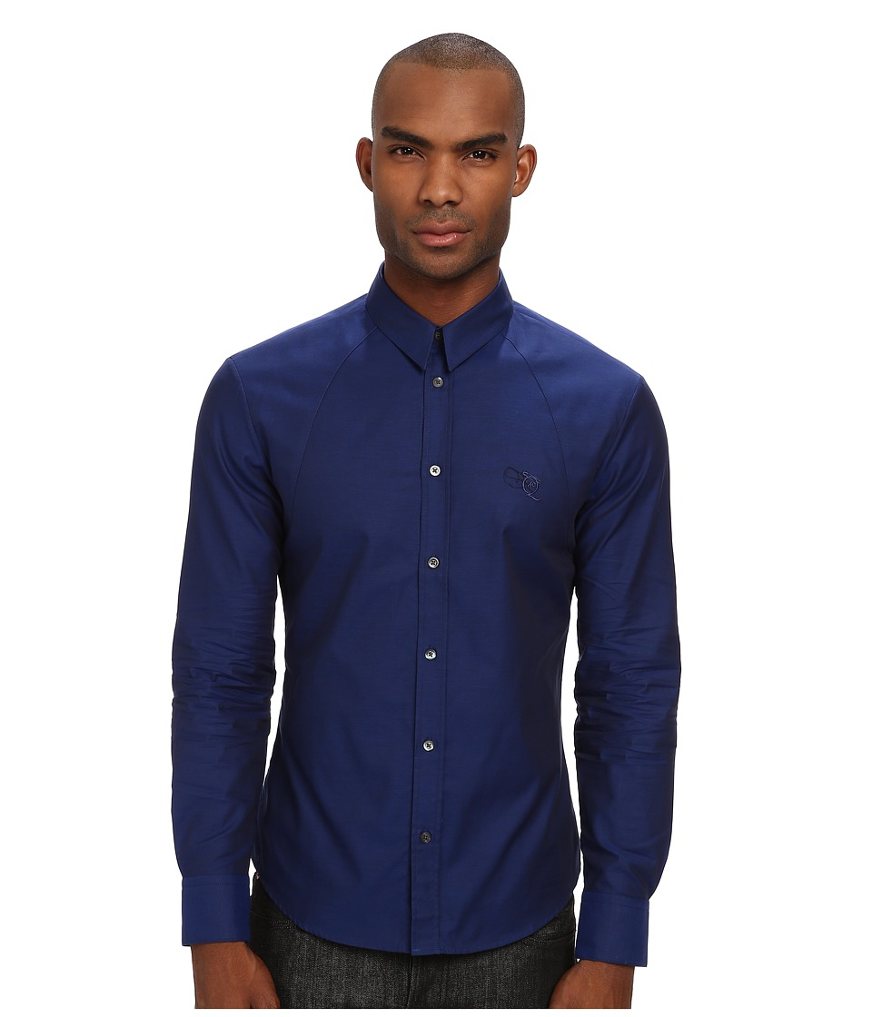 McQ - Harness Button-Up (Midnight Blue) Men's Long Sleeve Button Up