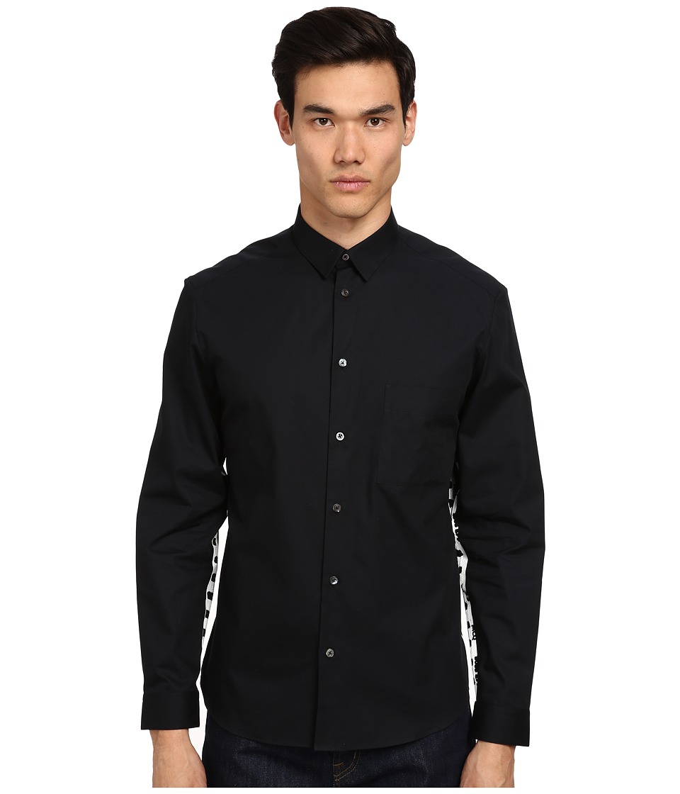 McQ - L/S Pocket Button-Up (Darkest Black) Men