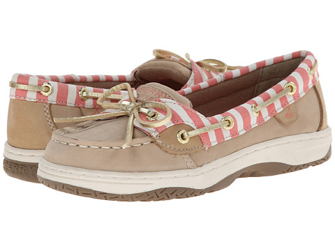 Sperry Top-Sider Kids - Angelfish (Little Kid/Big Kid) (Silver Cloud/Coral Bretton) Girls Shoes