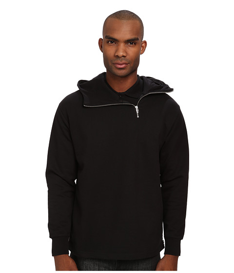 McQ - Jersey Zip Hoodie (Darkest Black) Men's Sweatshirt