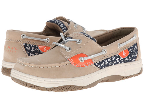 Sperry Top-Sider Kids - Bluefish (Little Kid/Big Kid) (Silver Cloud/Anchor) Girls Shoes