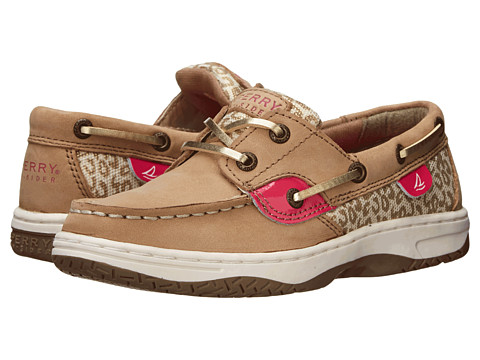 Sperry Top-Sider Kids - Bluefish (Little Kid/Big Kid) (Linen/Pink/Animal) Girls Shoes