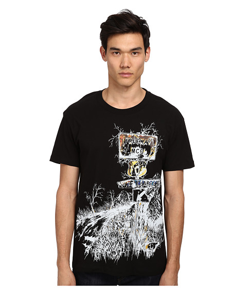 McQ - Freeway Dropped Shoulder Tee (Black) Men's T Shirt