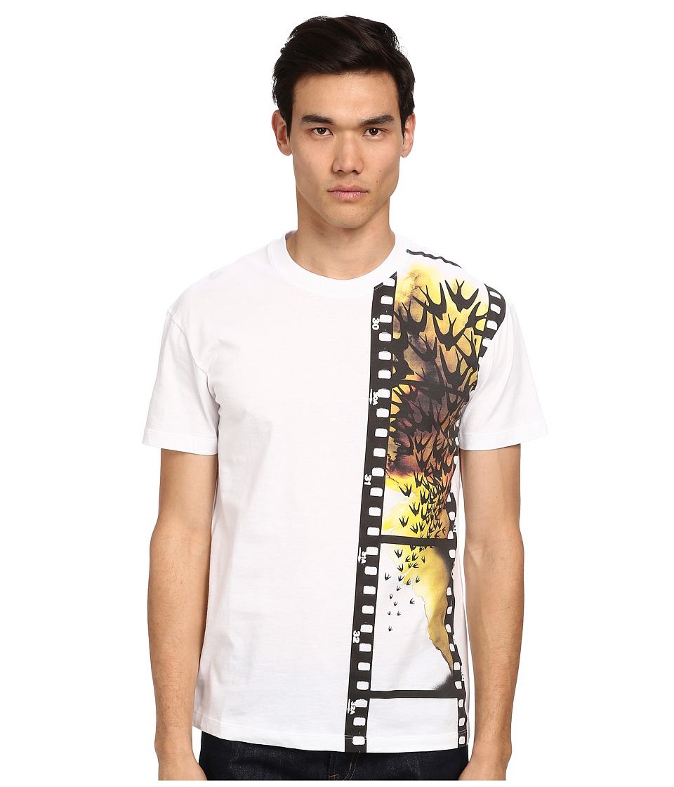 McQ - Swallows Film Dropped Shoulder Tee (White) Men