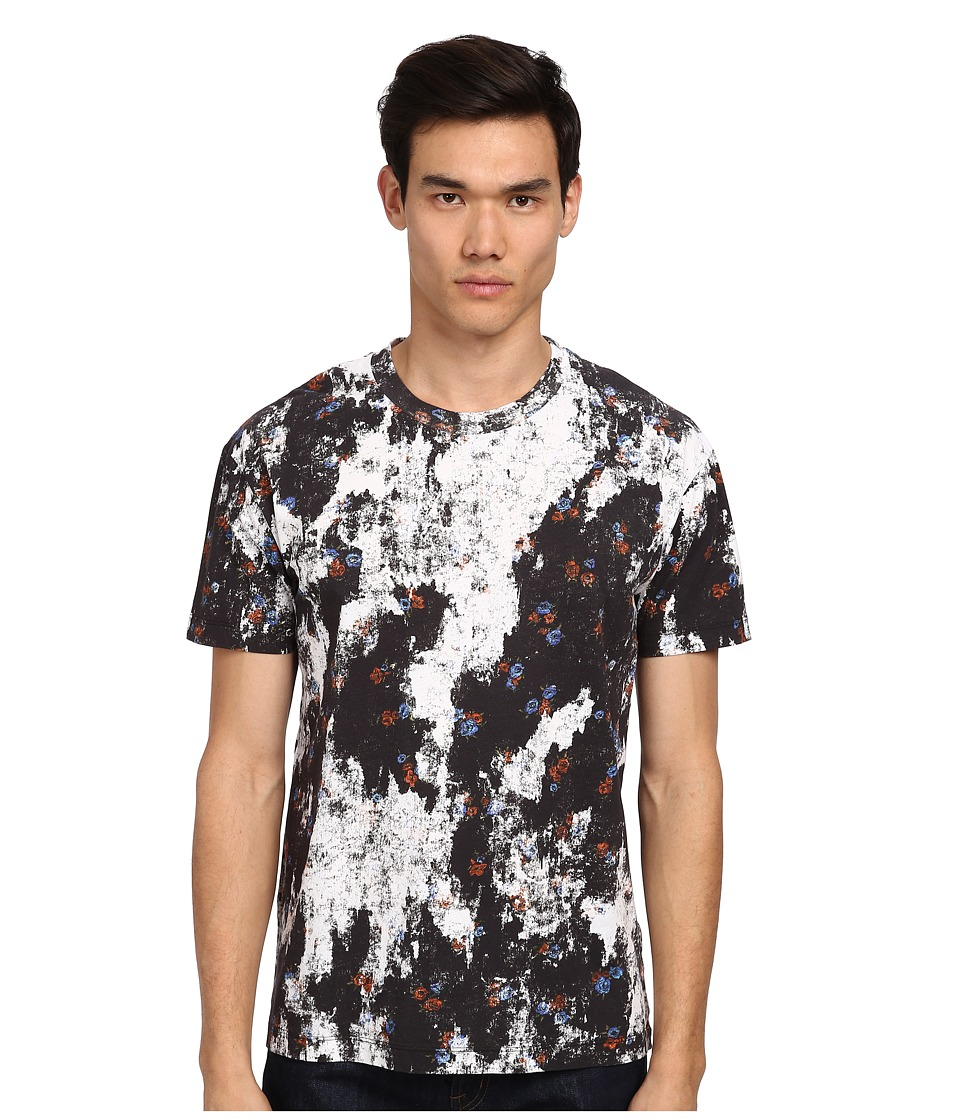 McQ - Patched Floral Dropped Shoulder Tee (Patched Floral) Men's T Shirt