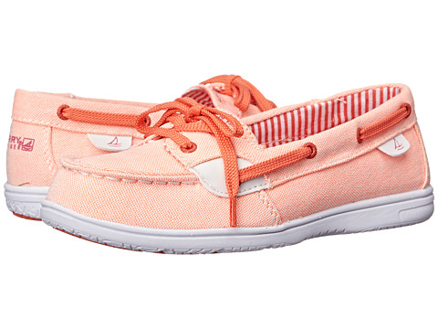 Sperry Top-Sider Kids - Shoresider (Little Kid/Big Kid) (Coral/Orange) Girls Shoes