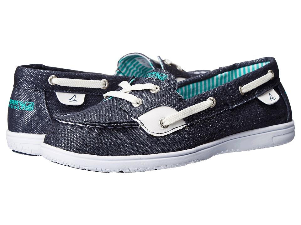 Sperry Kids - Shoresider (Little Kid/Big Kid) (Denim Sparkle) Girls Shoes
