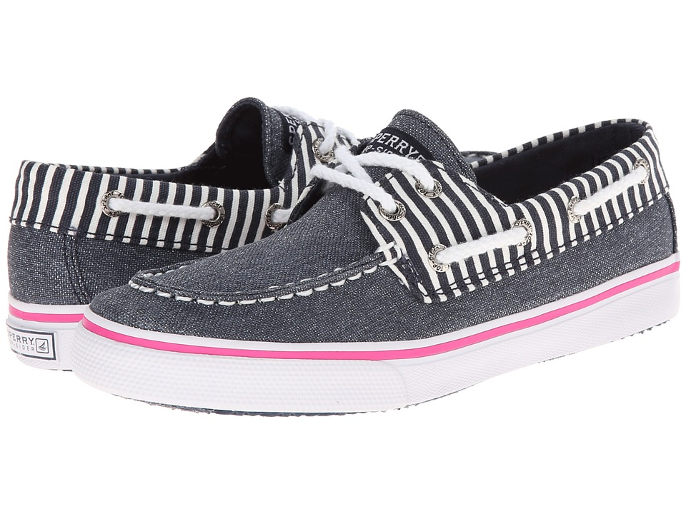 Sperry Top-Sider Kids - Bahama (Little Kid/Big Kid) (Navy/Metallic Stripe) Girls Shoes