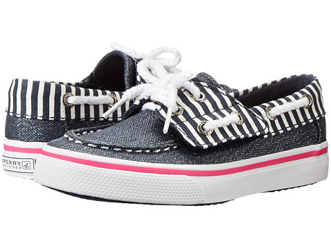 Sperry Top-Sider Kids - Bahama Jr (Toddler/Little Kid) (Navy/Metallic Stripe) Girl