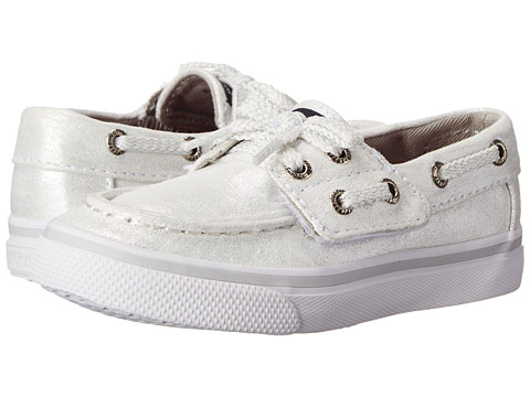 Sperry Top-Sider Kids - Bahama Jr (Toddler/Little Kid) (White/Silver) Girl's Shoes