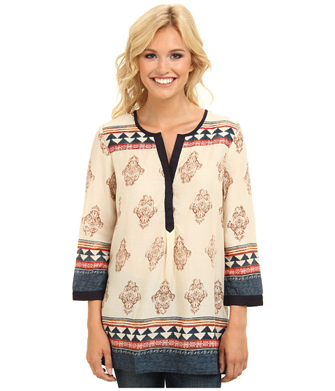 Lucky Brand - Tinsley Tunic (Natural Multi) Women's Blouse