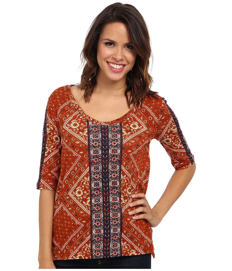 Lucky Brand - India Bandana Tee (Multi) Women's T Shirt