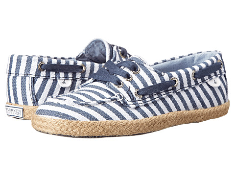 Sperry Top-Sider Kids - Cruiser (Little Kid/Big Kid) (Blue/Stripe) Girls Shoes