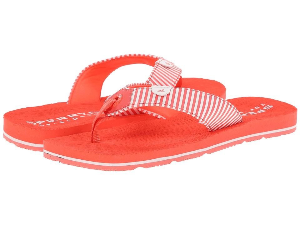 Sperry Top-Sider Kids - Topsail 2 (Little Kid/Big Kid) (Coral/Stripe) Girls Shoes