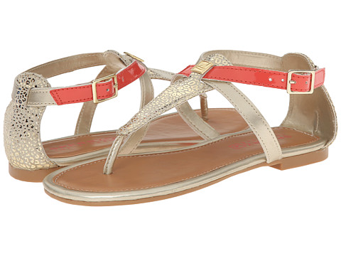 Sperry Top-Sider Kids - Summerlin (Little Kid/Big Kid) (Gold Animal/Coral) Girls Shoes
