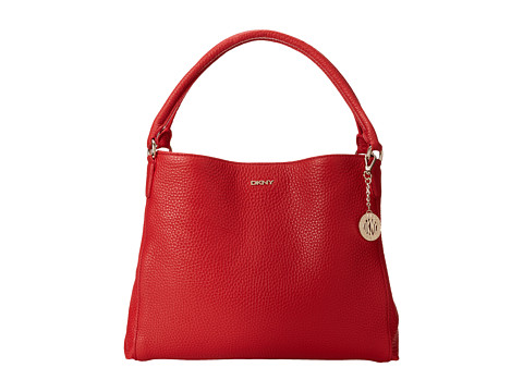 DKNY Tribeca Soft Tumbled Large Hobo (Red) Tote Handbags