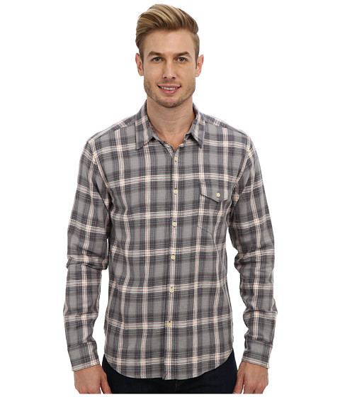 Lucky Brand - Dragster One-Pocket Shirt (Gray Plaid) Men's T Shirt