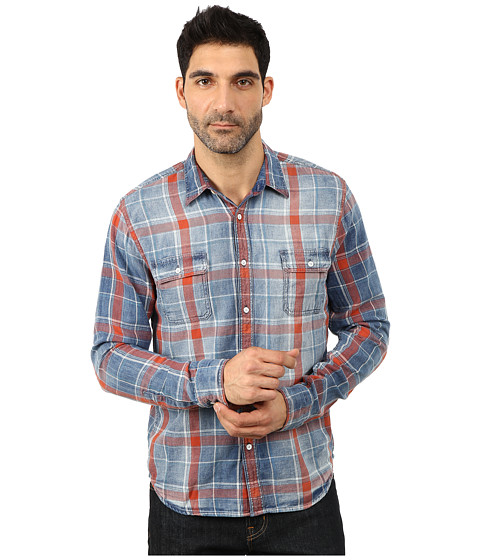 Lucky Brand - Axe Indigo Shirt (Salmon) Men
