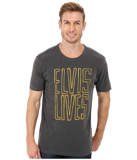 Lucky Brand - Elvis Lives Tee (Black Mountain) Men's T Shirt