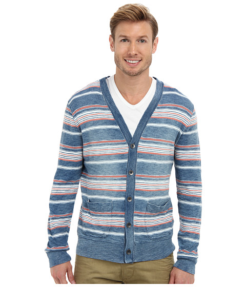 Lucky Brand - Stripe Cardigan (Multi) Men's Sweater