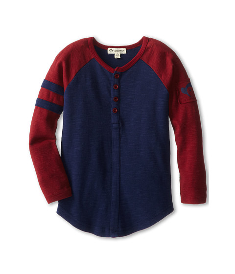 Appaman Kids - Super Soft Retro Baseball Henley (Toddler/Little Kids/Big Kids) (Galaxy) Boy