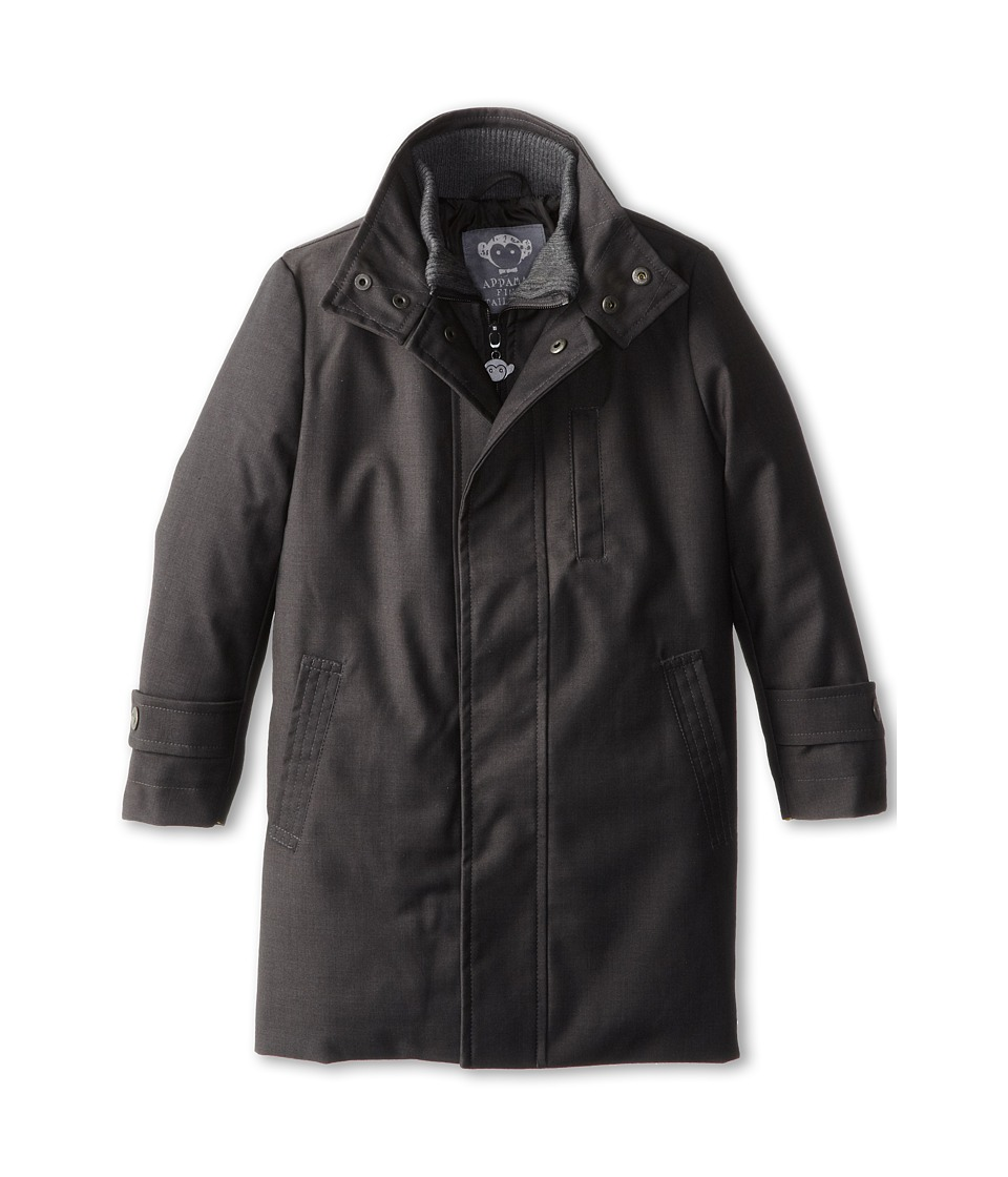 Appaman Kids - Double Zip Gotham Coat w/ Quilted Lining (Toddler/Little Kids/Big Kids) (Vintage Black) Boy's Coat