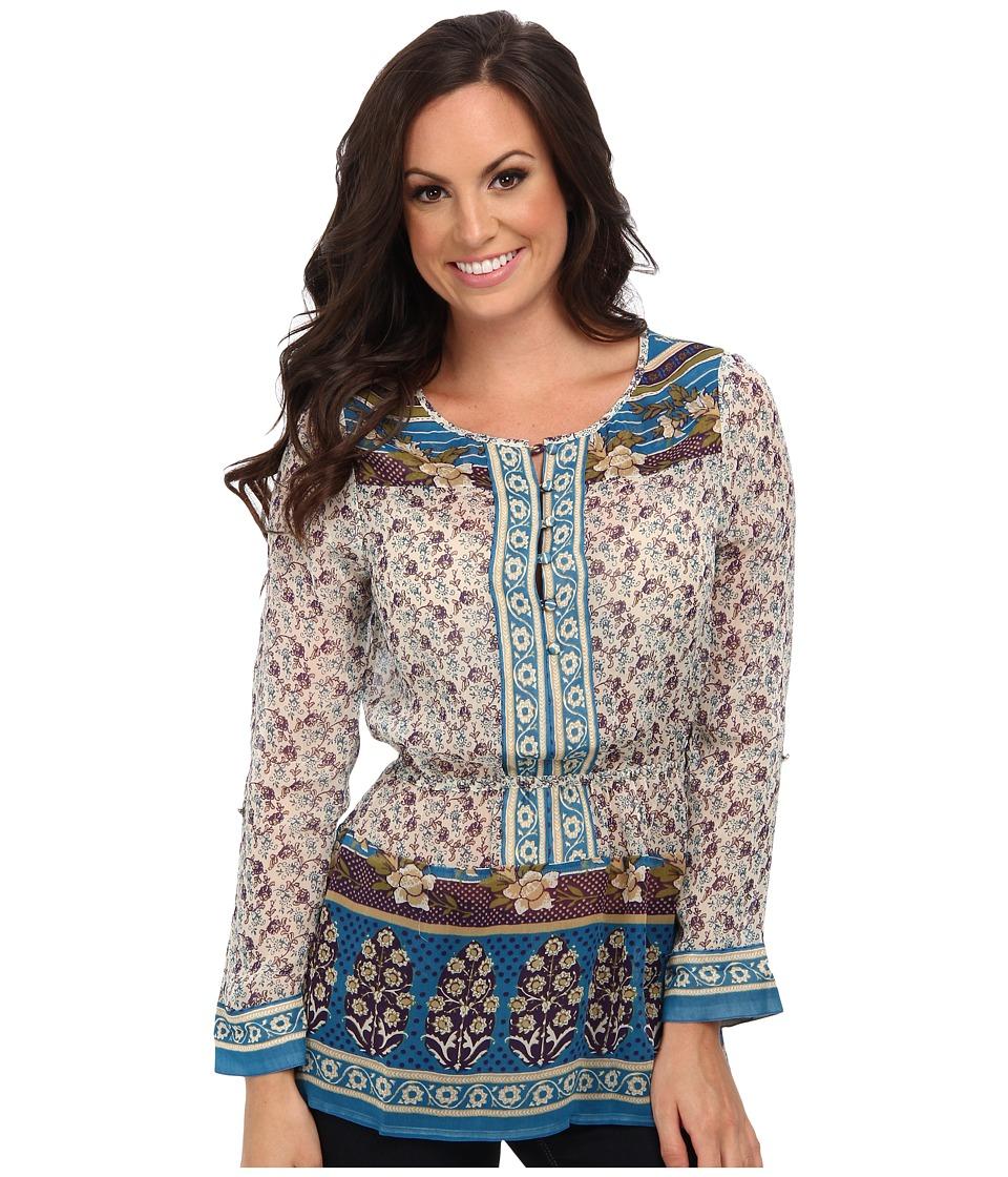 Lucky Brand - Savannah Gypsey Top (Blue Multi) Women's Clothing