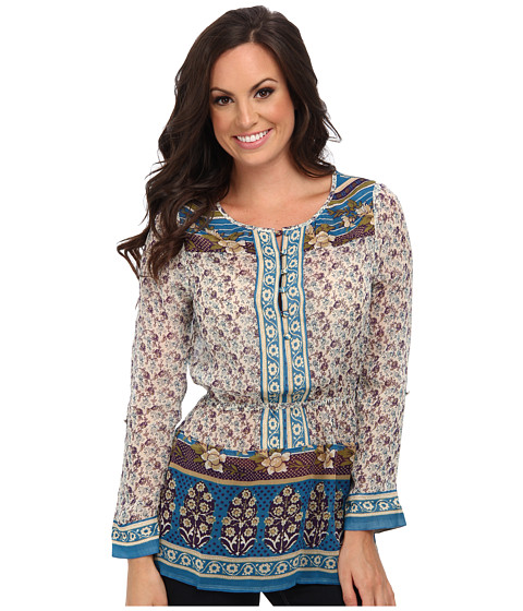 Lucky Brand - Savannah Gypsey Top (Blue Multi) Women